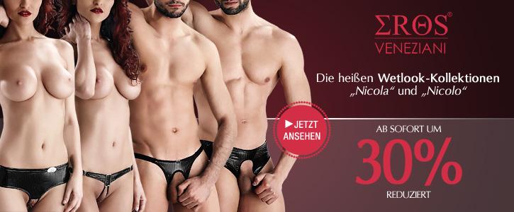 AKTION: 30% Rabatt aus ausgewählte Arikel von Eros Veneziani bei SinEros.de