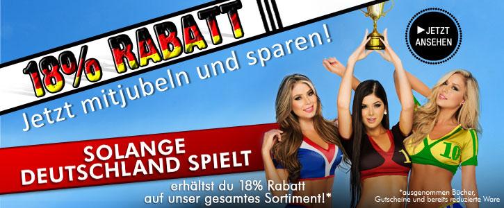 AKTION: 18% Rabatt bei SinEros.de - solange Deutschland im Turnier spielt