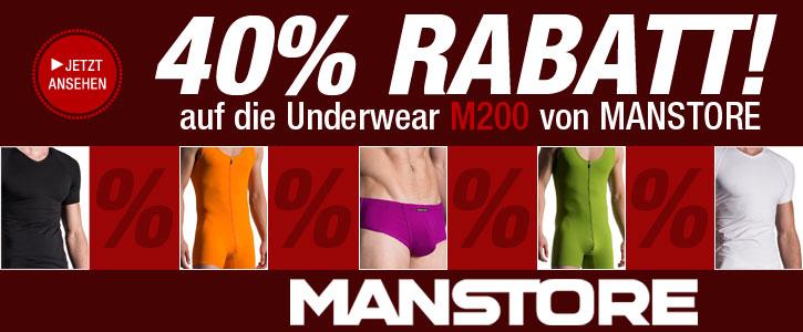 AKTION: 40% Rabatt auf die MANSTORE M200 Serie bei SinEros.de