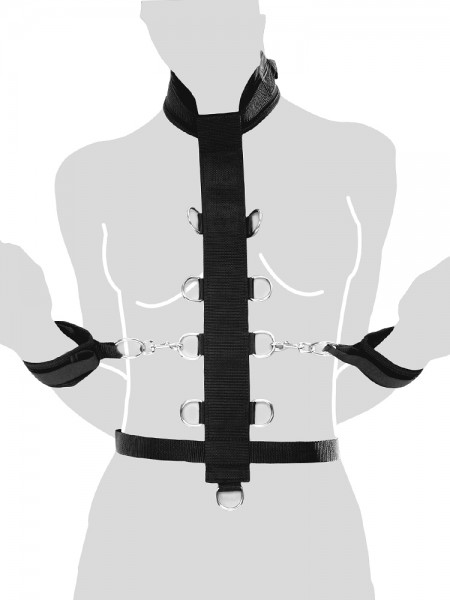 Fetish Fantasy Harness: Körperfessel, schwarz