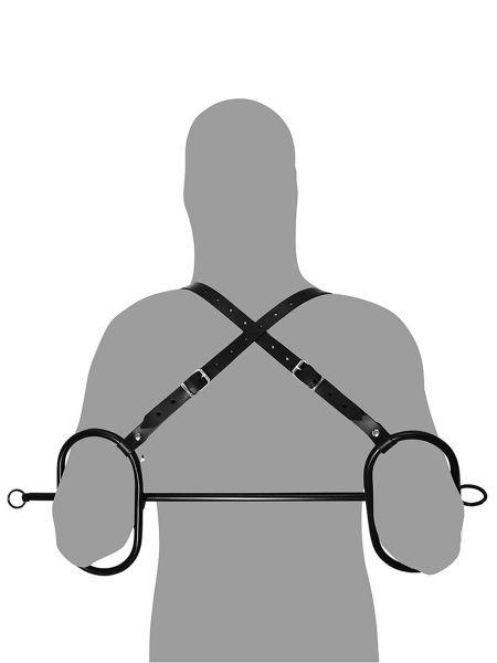 Rimba Bondage Play: Ellenbogen-Fessel, schwarz