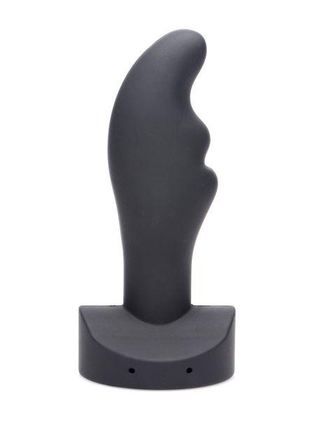 Zeus Electro Zinger Rippled E-Stim: Elektro-Stim-Analplug, schwarz