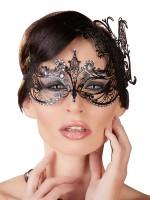 Metall-Augenmaske, schwarz