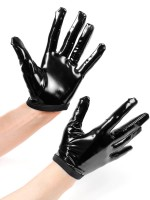 Patrice Catanzaro Molly: Lack-Handschuhe, schwarz