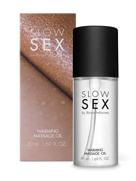 Bijoux Indiscrets Slow Sex Warming Massage: Wärmendes Massageöl (50ml)