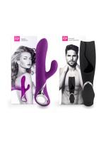 Lovers Premium Couples Set: Bunnyvibrator + Masturbator, lila/schwarz
