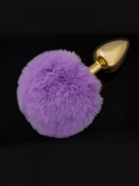Dolce Piccante Jewellery Small Tail: Edelstahl-Analplug, gold/purple