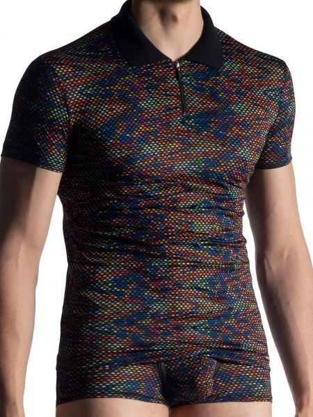 MANSTORE M913: Polo Shirt, schwarz/print