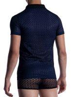 MANSTORE M2053: Polo Shirt, schwarz/blau