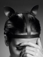Bijoux Indiscrets Maze: Kopf-Harness mit Katzenohren, schwarz