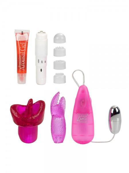 Her Clit Kit: Vibratoren-Set, pink/weiß