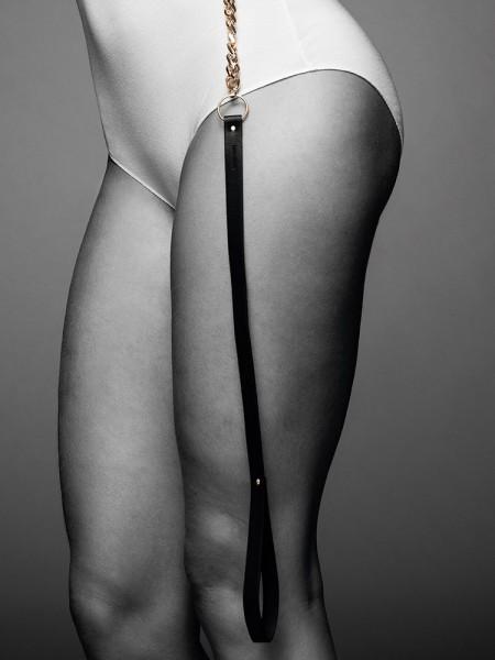 Bijoux Indiscrets Maze: Führleine mit Kette, schwarz