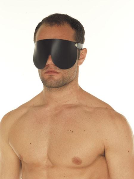 Leder-Augenmaske, schwarz