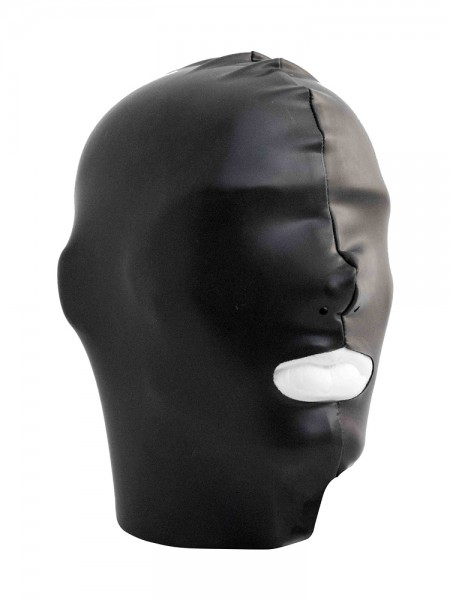 Mister B Datex Hood Mouth Open Only: Kopfmaske, schwarz