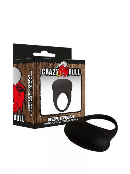 Crazy Bull Bertram: Vibro-Penisring, schwarz