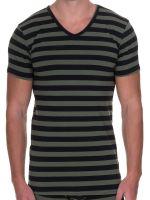 Bruno Banani Sailor: V-Neck-Shirt, oliv/schwarz
