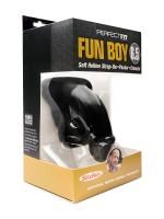 "Perfect Fit Fun Boy 6,5"": Strap-On Packer hohl, schwarz"