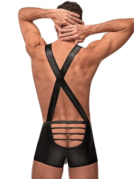 Male Power Cage Matte: Cage Back Singlet, schwarz