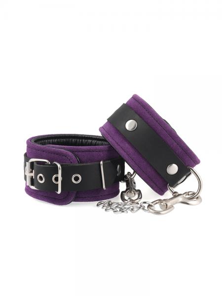 Velourleder-Fußfesseln, violett