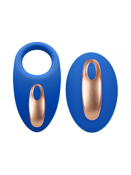 Elegance Poise: Vibro-Penisring mit Vibro-Fernbedienung, blau