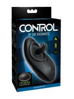 Sir Richards Control Silicone Rim Joy: Analvibrator mit Zunge, schwarz