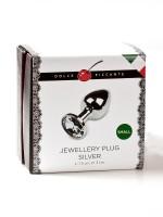 Dolce Piccante Jewellery Small: Edelstahl-Analplug, silber/klar