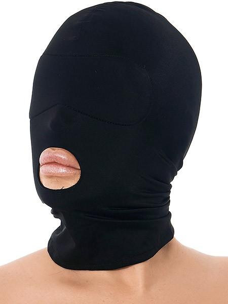 Kopfmaske mit Mundöffnung, schwarz