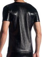 MANSTORE M865: V-Neck-Shirt, schwarz