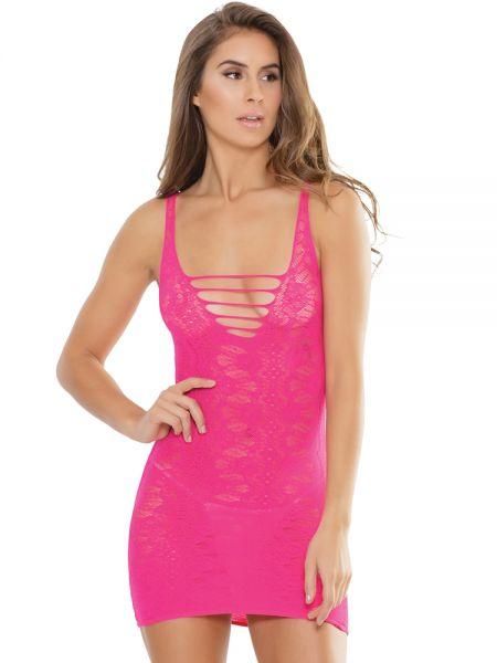 Coquette Elite: Minikleid, neon pink