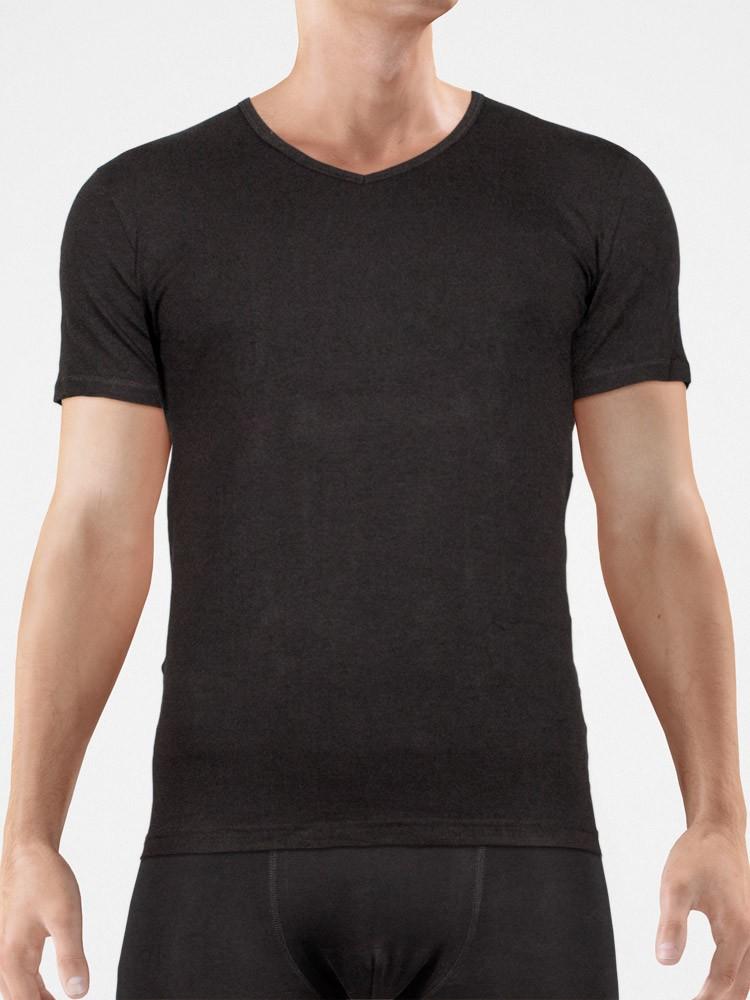 Bangert Bangert: V-Neck-Shirt, schwarz