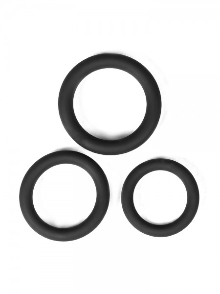 Malesation Cockring-Set Beginner: Penisringe-Set, schwarz
