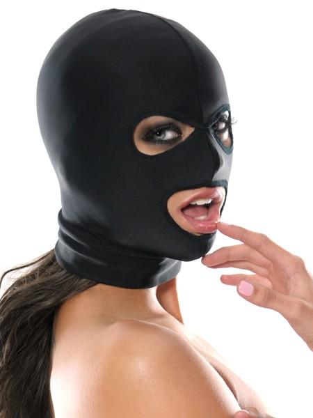 Fetish Fantasy: Kopfmaske mit 3 Öffnungen