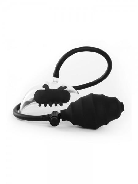 Ouch! Vibrating Pussy Pump: Vibro-Vulvasauger, schwarz