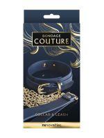 Bondage Couture Collar & Leash: Halsband und Leine, blau