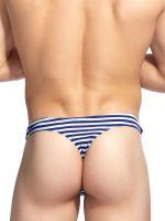 L'Homme Connor: Bikinistring, blau/weiß