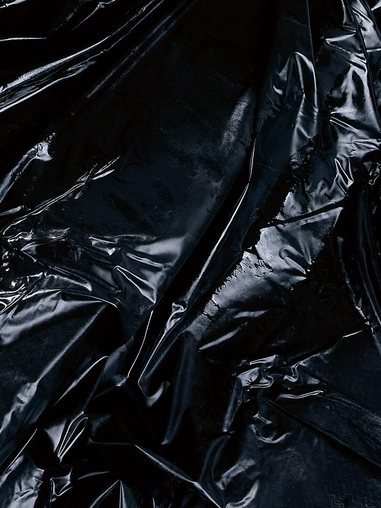 Lack-Laken schwarz, 200x230cm