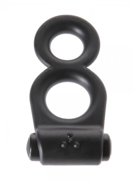 Malesation Vibro 8 Ring: Vibro-Penis-/Hodenring, schwarz