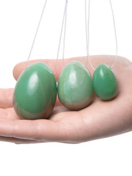 LaGemmes Yoni Egg Set: Liebes-Ei 3er-Set Jade, grün