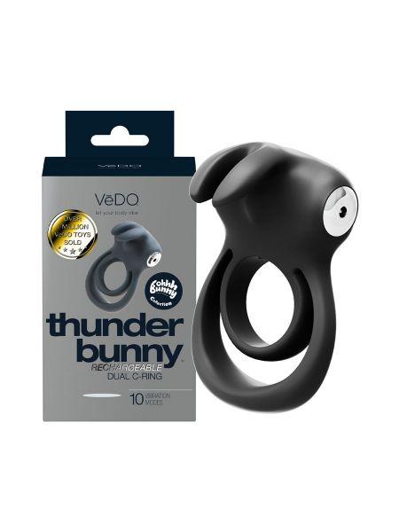 VeDo Thunder Bunny: Vibro-Penisring, schwarz