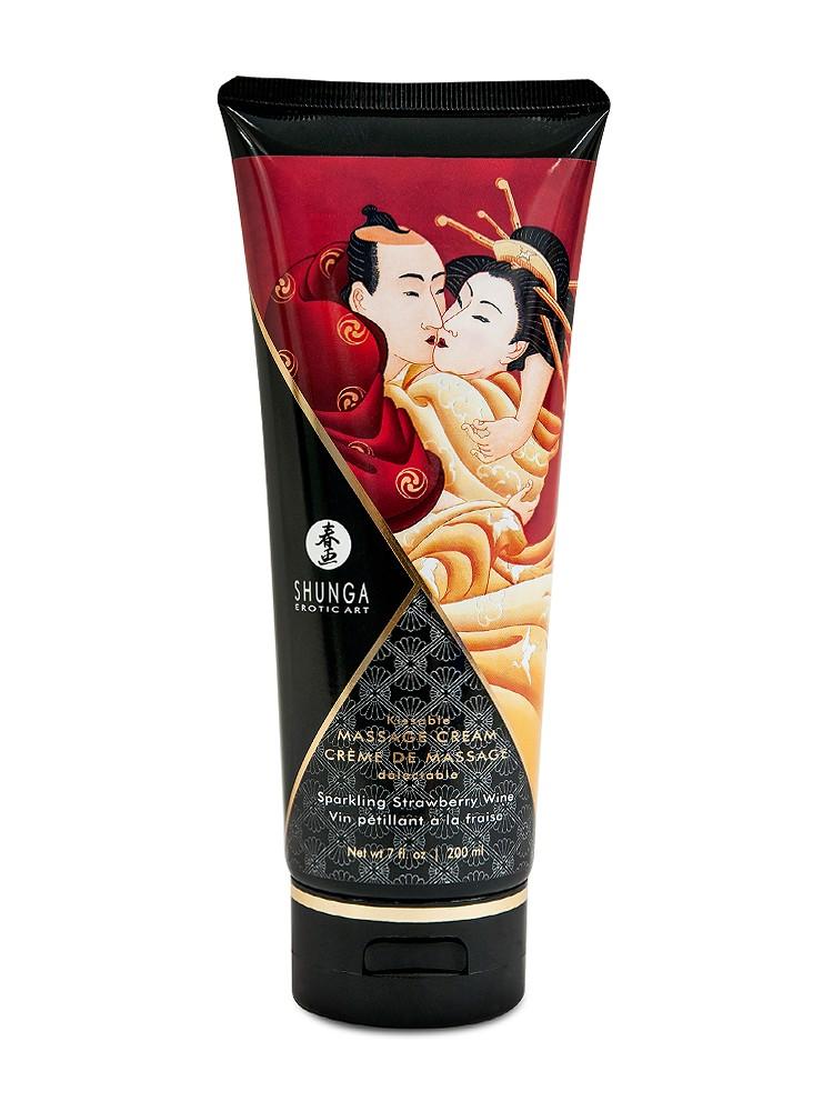 Shunga Kissable Massage Cream Sparkling Strawberry Wine (200ml)