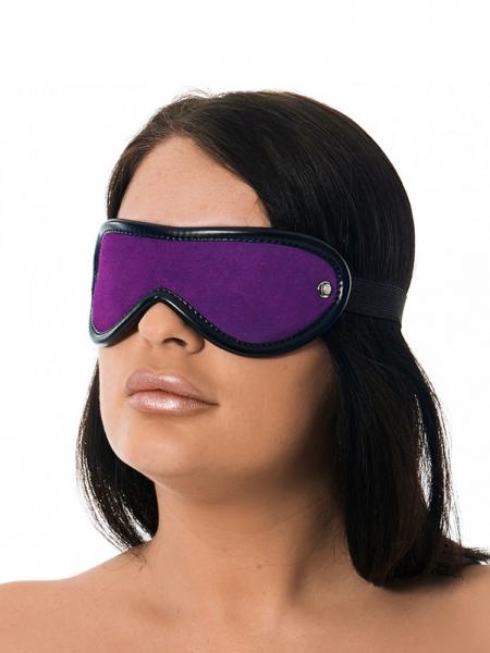 Velourleder-Augenmaske, violett