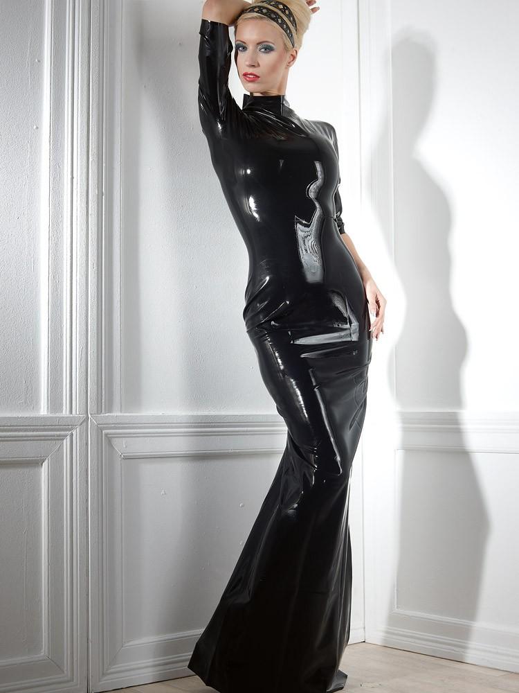 Latex-Kleid: Devora, schwarz