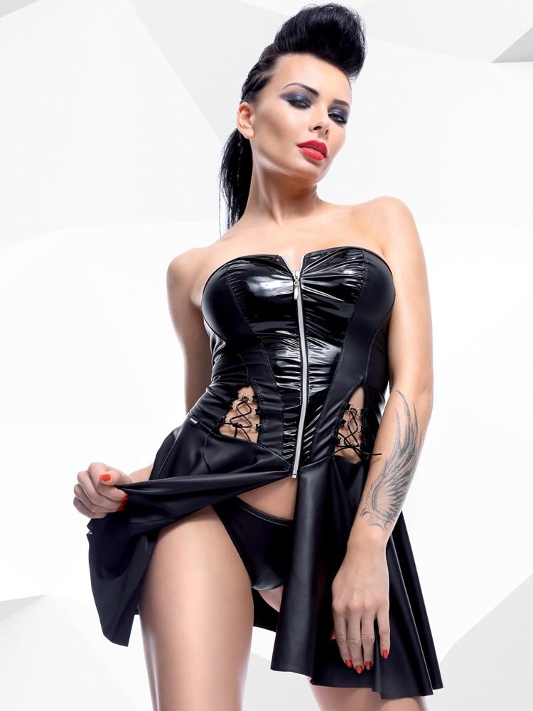 Demoniq Hard Candy Minikleid: Rita, schwarz