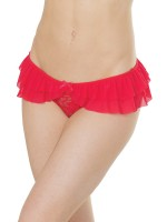 Coquette: Ouvertslip, rot