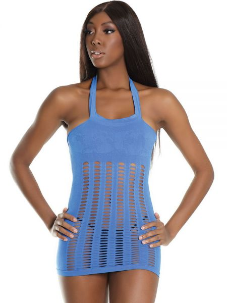 Coquette Elite: Minikleid, blau