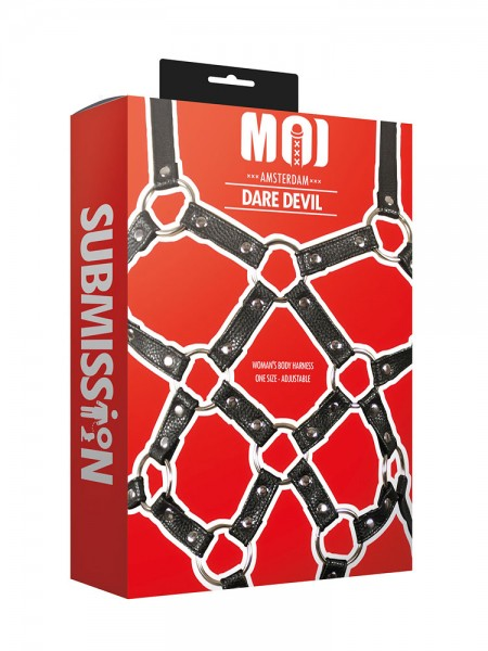 MOI Submission Dare Devil Womans Body Harness, schwarz