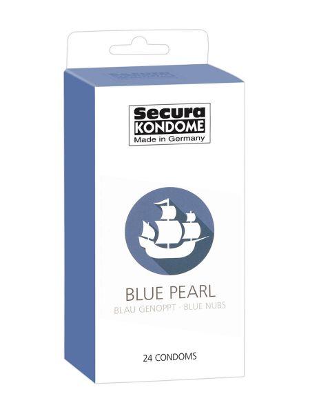 Secura Blue Pearl: Kondome, 24er Pack