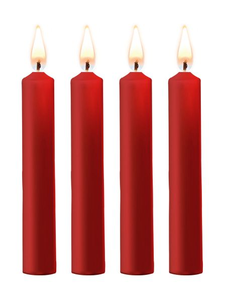 OUCH! Teasing Wax Candles: SM-Kerzen 4er Pack, rot