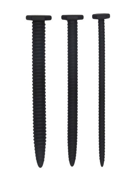 Ouch! Silicone Screw: Dilator-Set 3-teilig, schwarz