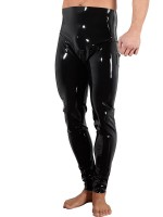 Latex-Leggings, schwarz
